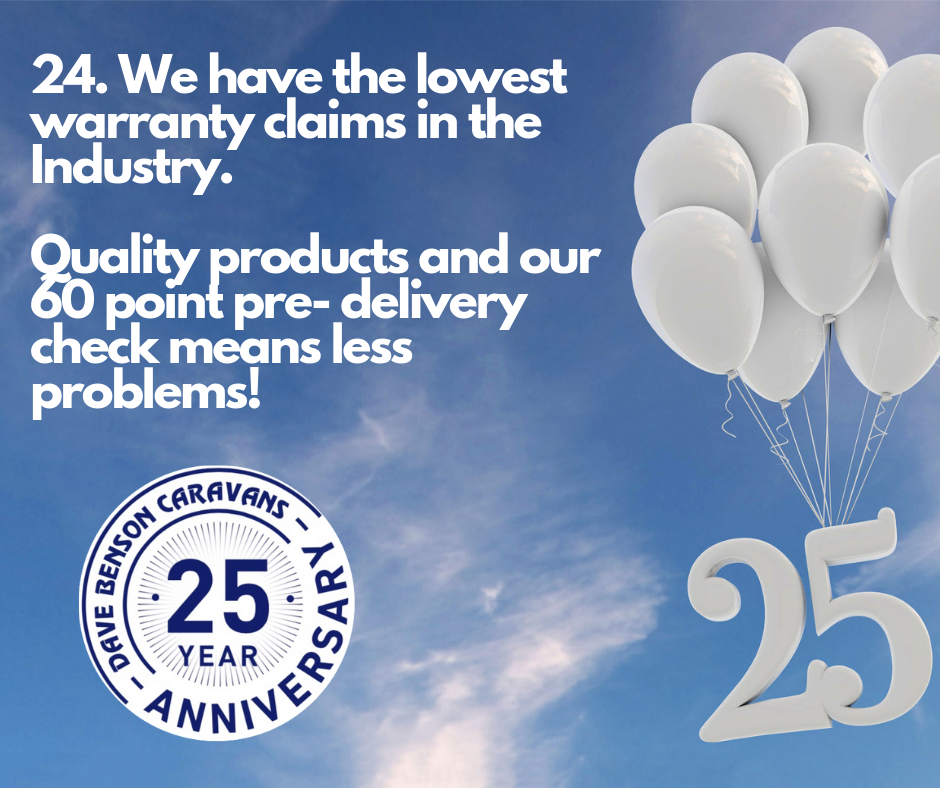 We have the lowest caravan & camper warranty claims in the country