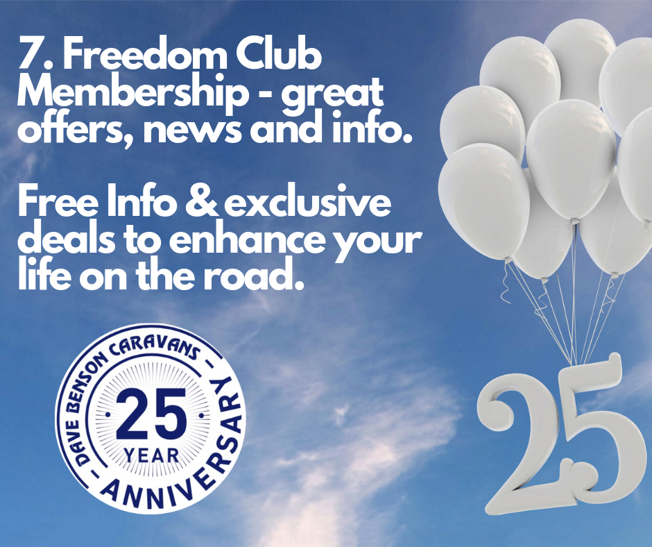 7. Freedom Club Membership - great offers, news and info Free Info & exclusive deals to enhance your life on the road.
